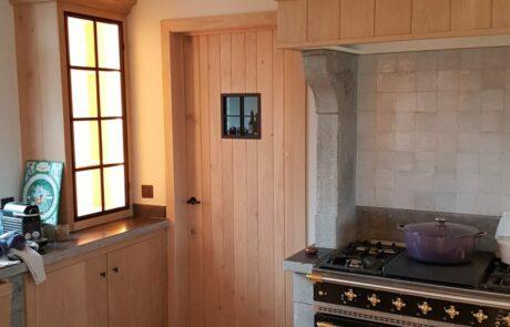 Landelijke deur keuken